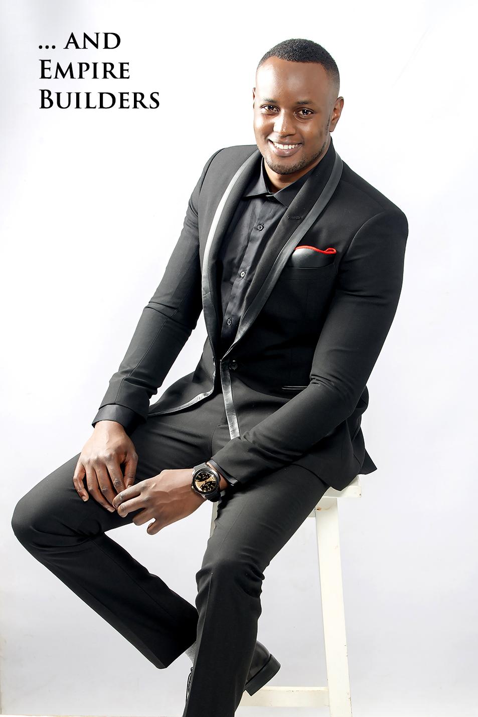 Black tie designer tuxedo by King Sidney in Nairobi Kenya