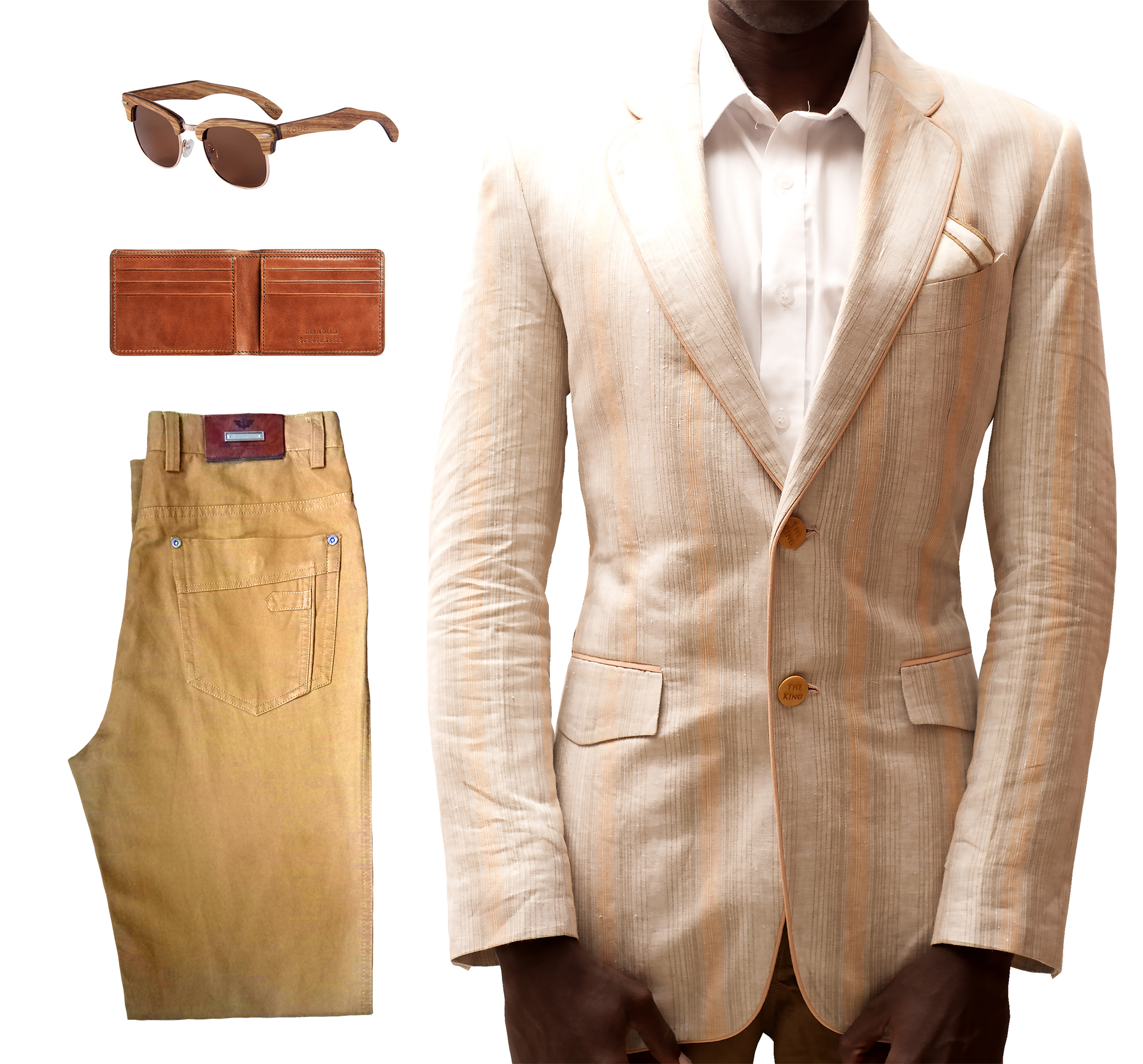 Brown designer linen blazers for men in Nairobi Kenya