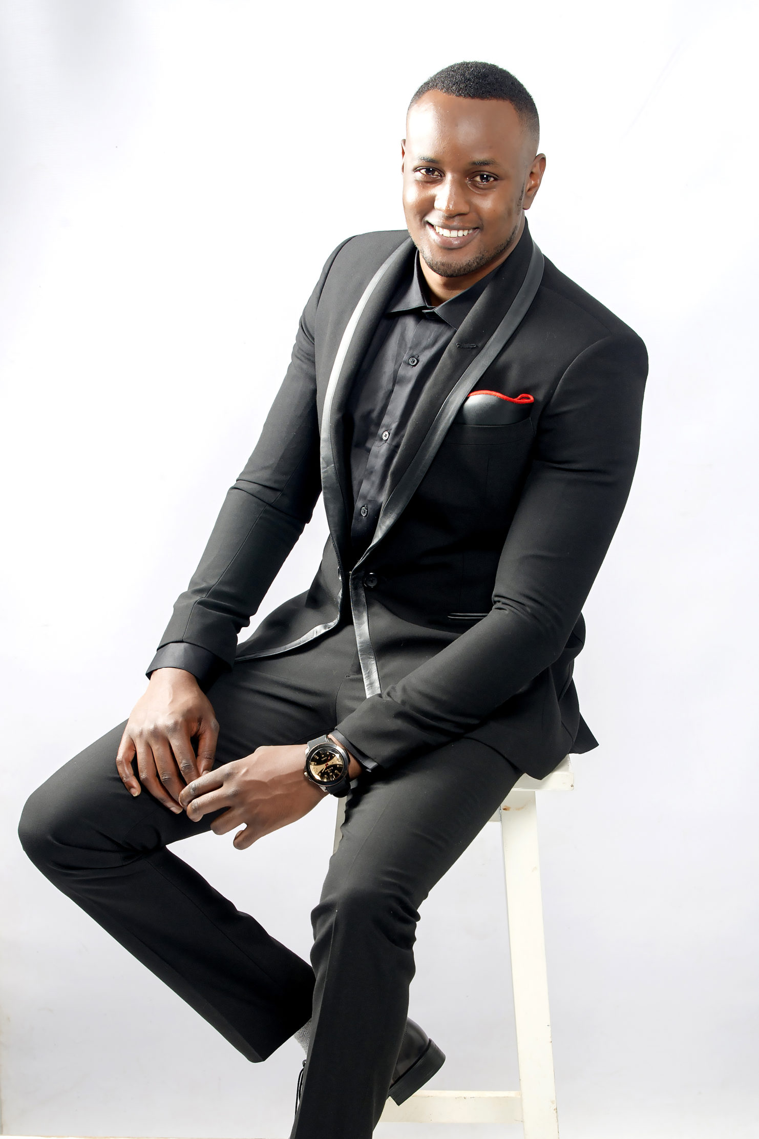 Black designer tuxedo for men in Nairobi Kenya