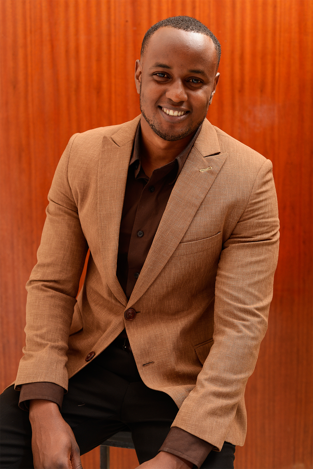 Brown linen jackets for men in Kenya.