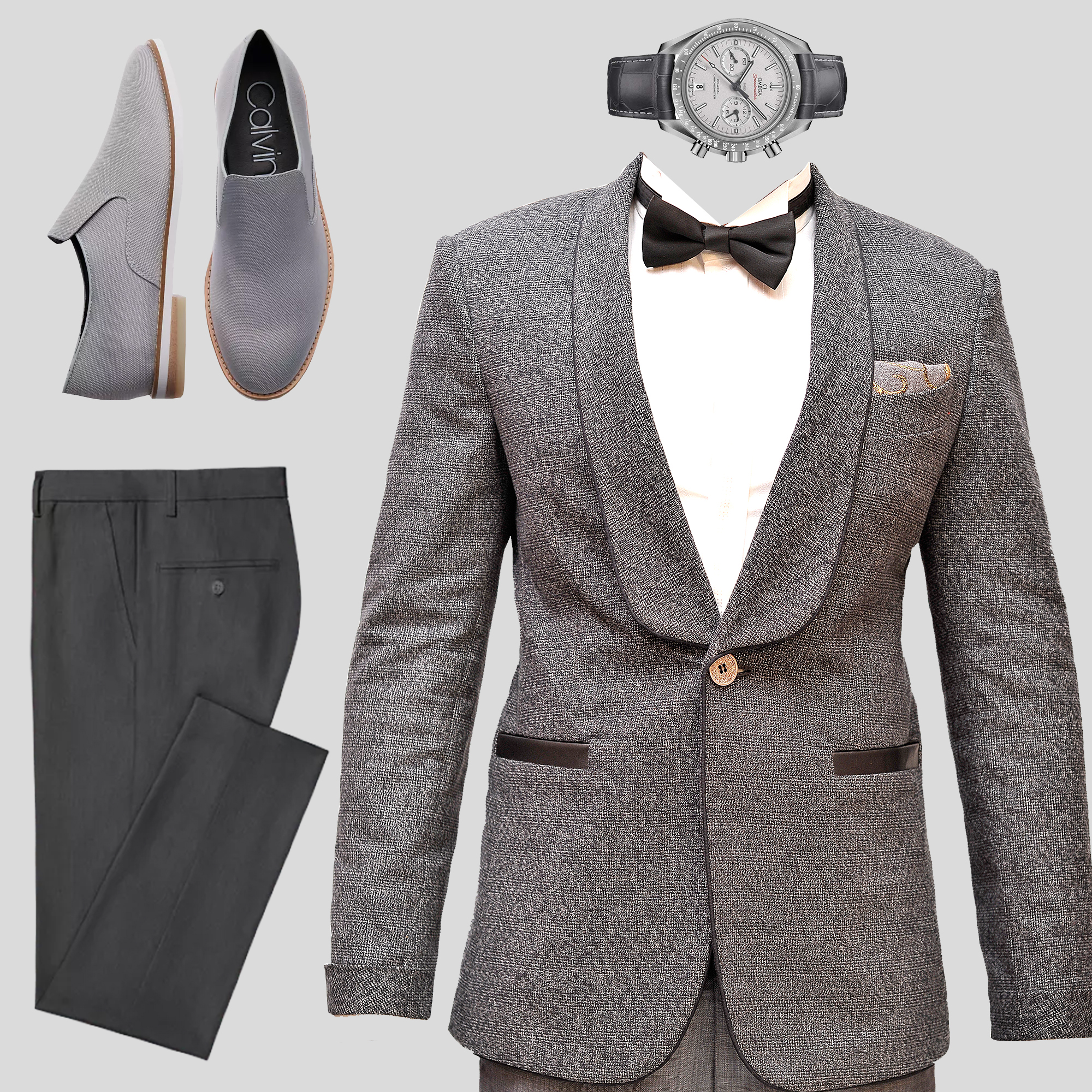 Grey designer outfits for men in Nairobi Kenya - Men's designer clothes