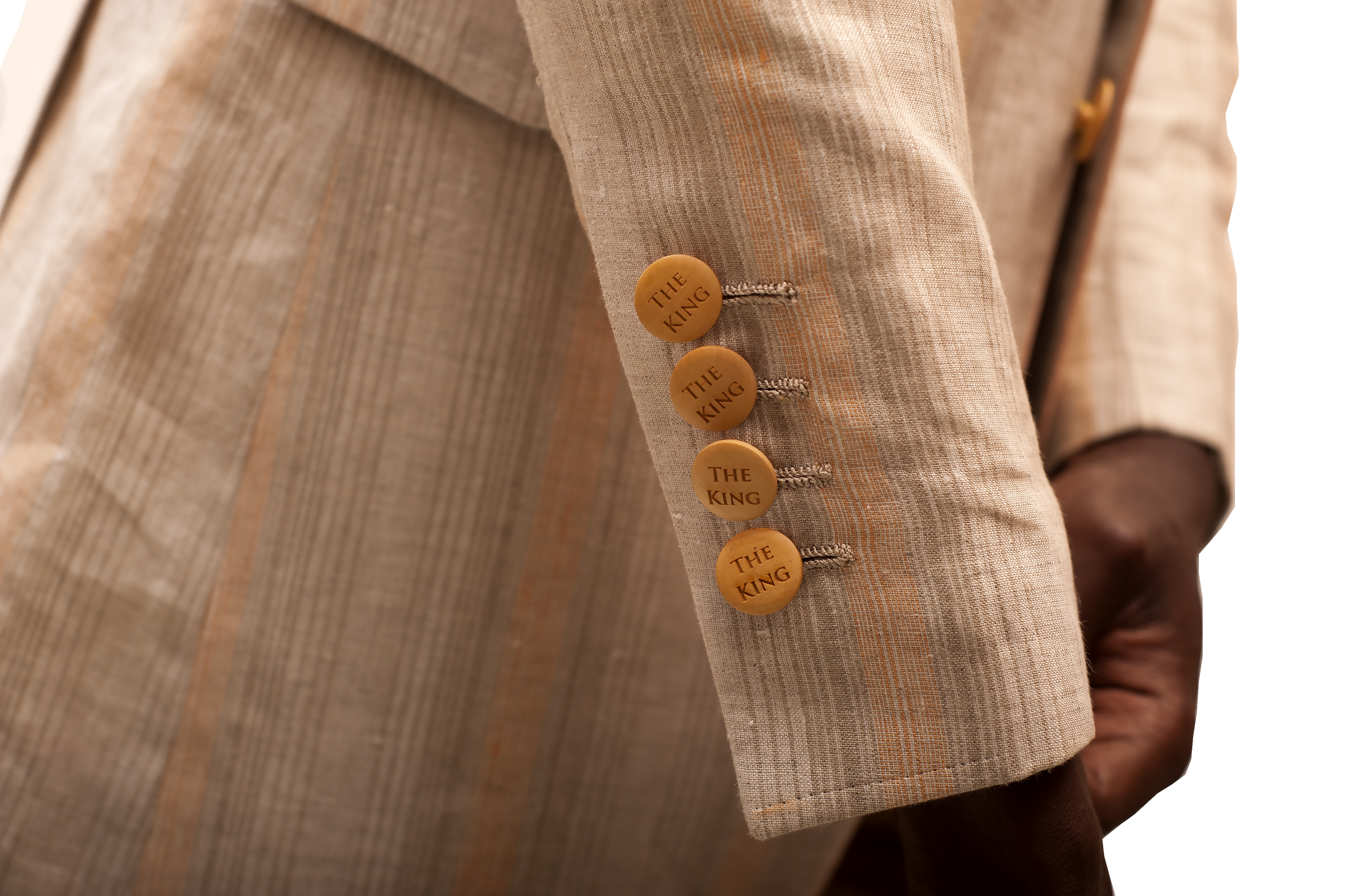 Wooden designer buttons exclusive to King Sidney