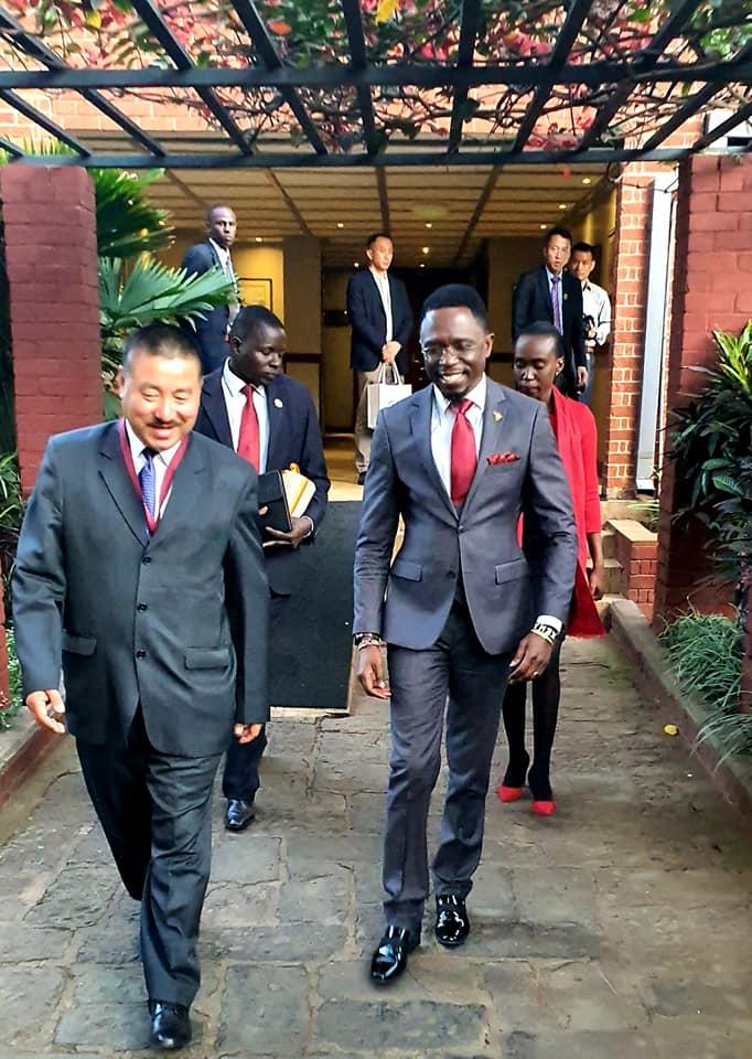 Ababu Namwamba in a suit