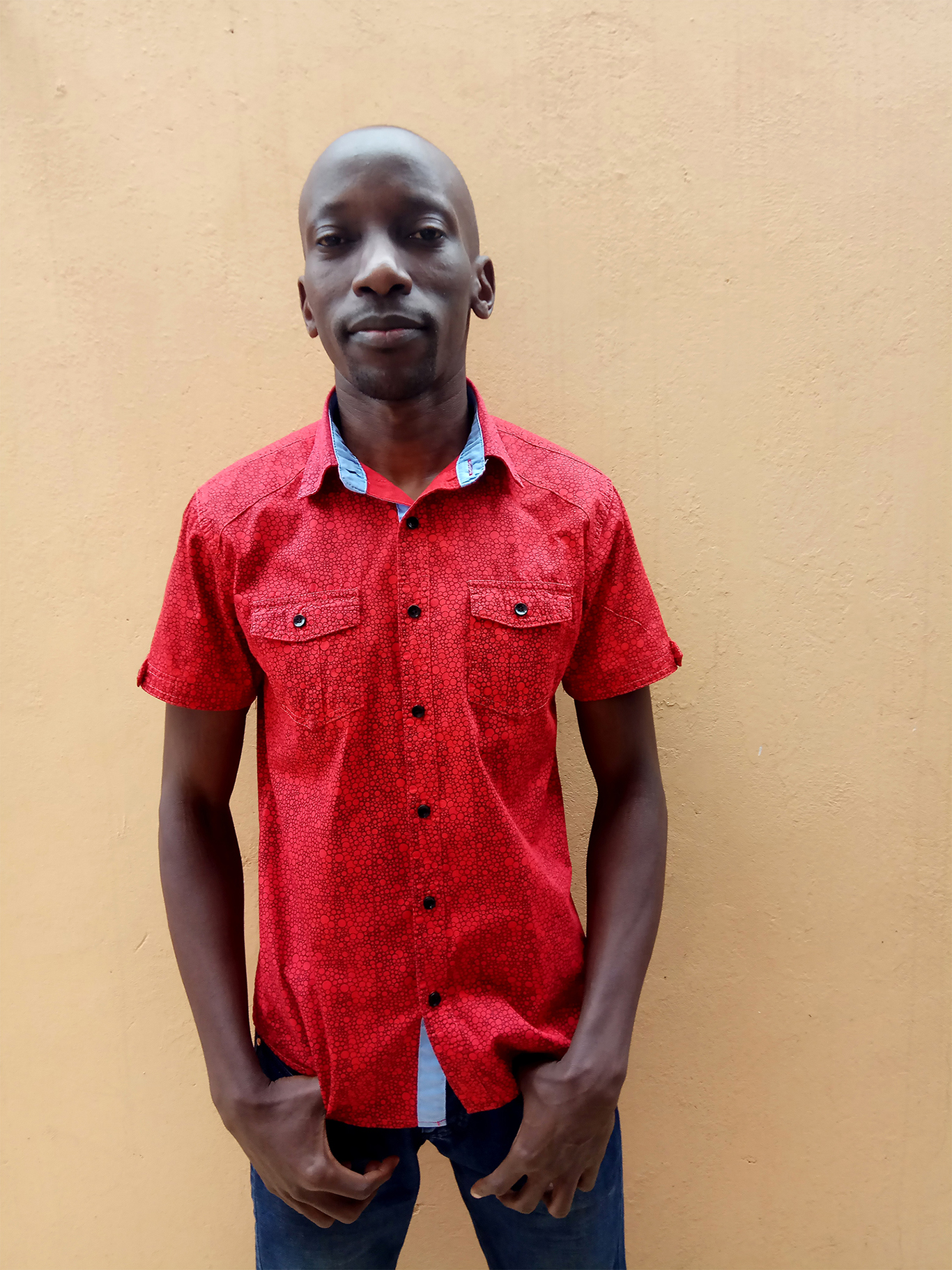 Men's fashion in Nairobi Kenya red shirt