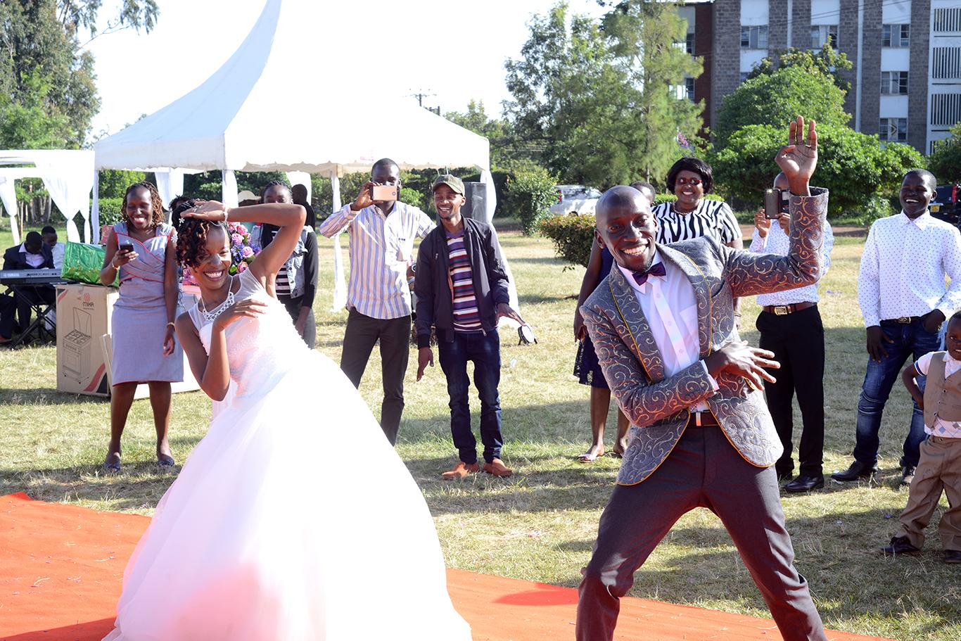 Special wedding jacket for the groom in Kenya