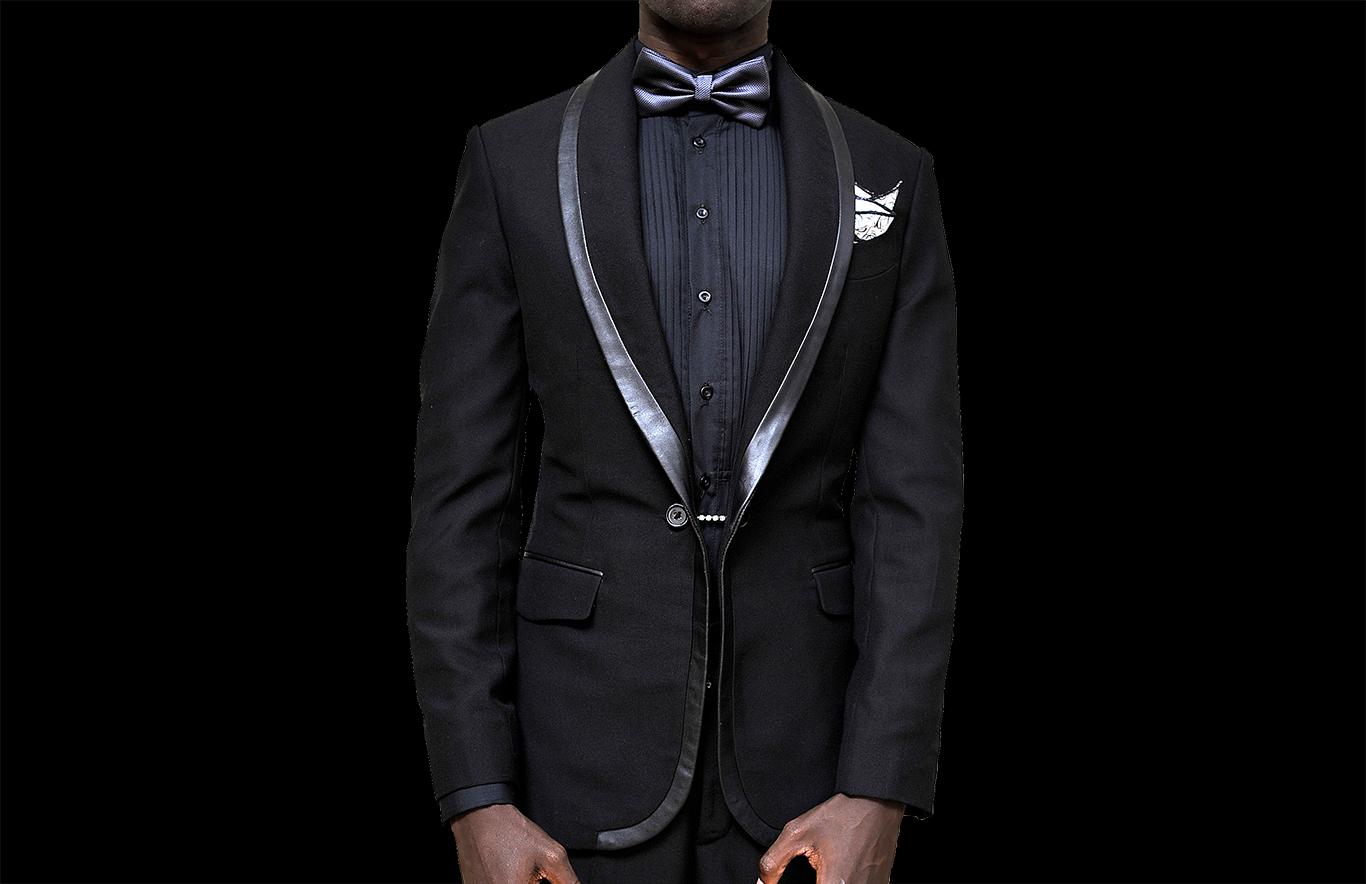 Black designer tuxedo