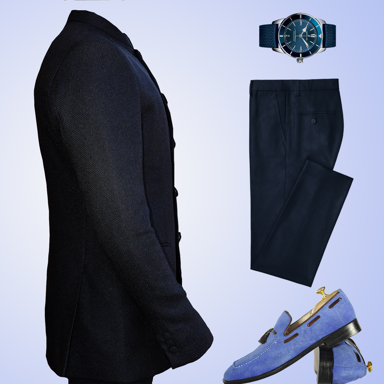 Business casual interview outfit for men in Kenya