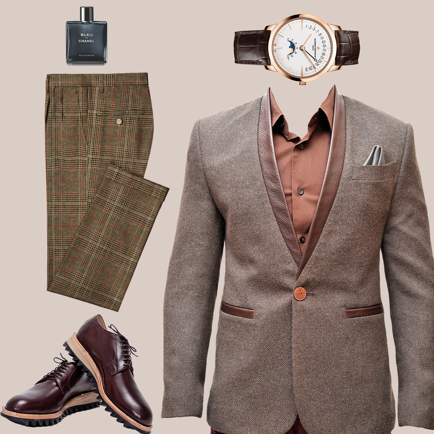 sports coat wedding guest outfit for men
