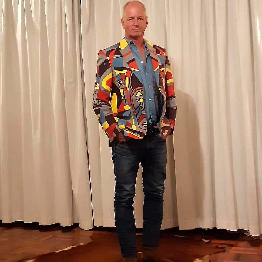 James Dickson artistc hand painted jacket king sidney