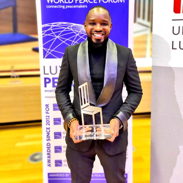 Boniface Mwangi Luxembourg Peace Prize tuxedo