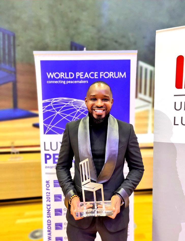 Boniface Mwangi Luxembourg Peace prize tuxedo - King Sidney