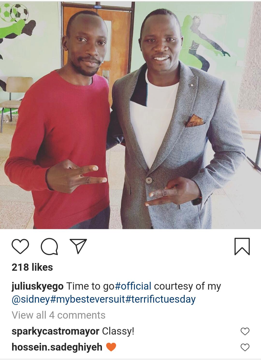 King Julius Yego in King Sidney