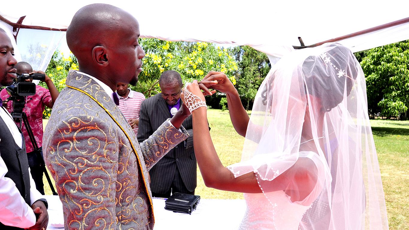Groom's unique wedding suit Nairobi Kenya