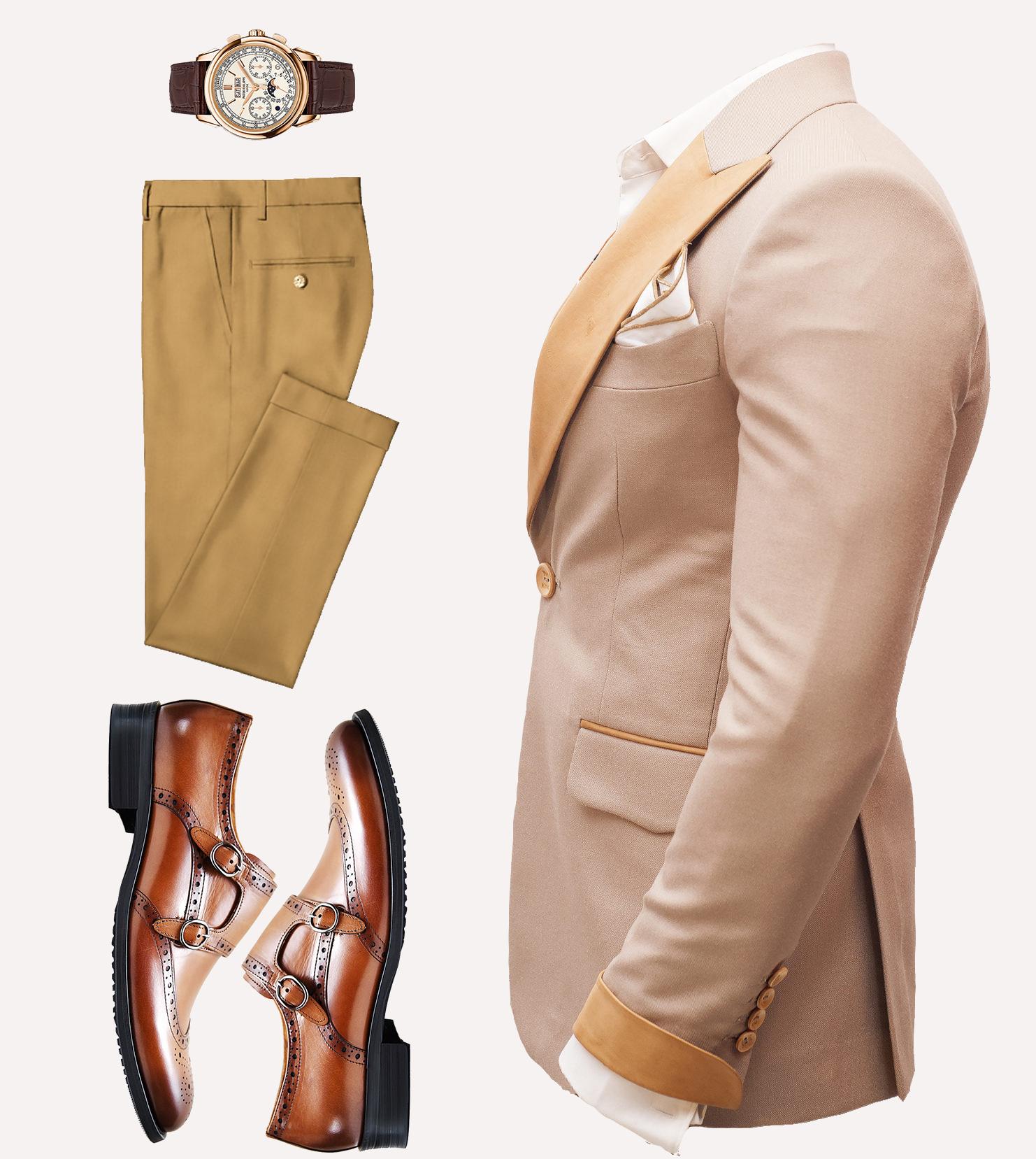 Brown beige designer wedding suit Nairobi Kenya